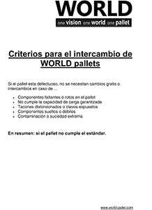 Criterios para el intercambio de WORLD pallets